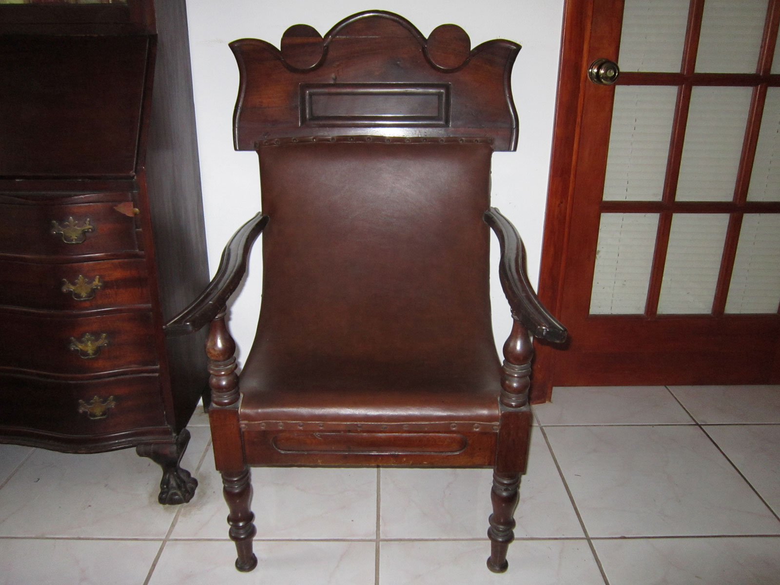 18th Century British Colonial Planters Chair For Lady From